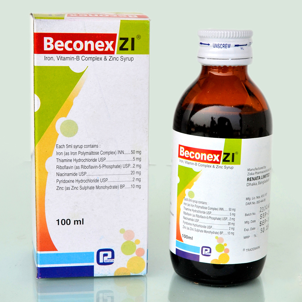 Beconex Zi Syrup Renata Limited